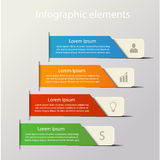 Infographic background concept. Modern infographics elements. Origami style. Vector illustration. Can be used for workflow layout, diagram, number and step up Stock Images