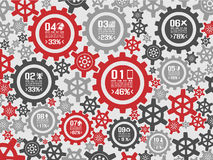 Infographic background gear Stock Photography
