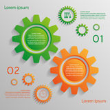 Infographic background with gears. Two options of infographics for your design Stock Images