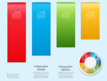 Infographic background over light blue Stock Photo