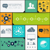 Infographic Background Set Royalty Free Stock Images