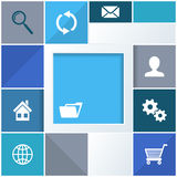 Infographic background with website icons stock illustration