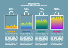 Infographic with bag end percents Royalty Free Stock Photography