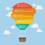 Infographic ballong för varm luft Arkivbild