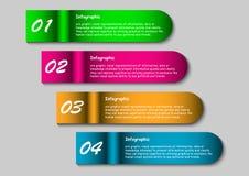 Infographic baner Arkivfoto