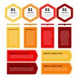 Infographic baner för färg Genomskinliga geometriska cirklar med text Fotografering för Bildbyråer