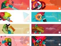 Infographic baner för modern plan design Arkivfoto