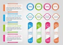 Infographic banersamling Royaltyfria Bilder