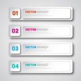 Infographic baneruppsättning för vektor Royaltyfria Foton