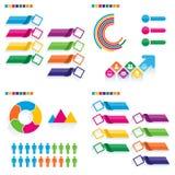 企业infographic集合 能为工作流布局, banne使用 库存例证
