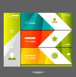Infographic banner design elements Stock Photos