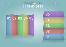 Infographic banner Royalty Free Stock Image