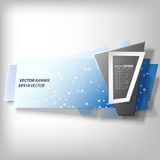 Infographic banner, origami styled vector Royalty Free Stock Image