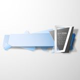 Infographic banner, origami styled vector Royalty Free Stock Images