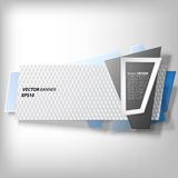 Infographic banner, origami styled vector Stock Photo