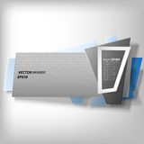 Infographic banner, origami styled vector Stock Photography