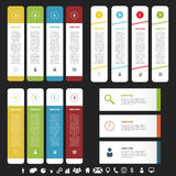 Infographic banner set. Vector template.  Royalty Free Stock Photo