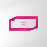 Infographic banner. Vector template. Illustration Stock Images