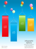Infographic banners and balloons Royalty Free Stock Photography