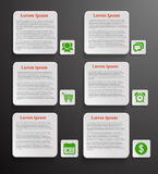 Infographic banners with icons. On black background Royalty Free Stock Image