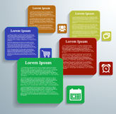 Infographic banners with icons. On grey background Royalty Free Stock Photography