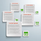 Infographic banners with icons. On grey background Stock Photo