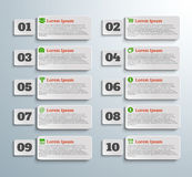 Infographic banners with icons and number. On grey background Royalty Free Stock Photos