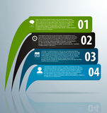 Infographic banners with icons and number. On grey background Royalty Free Stock Photography
