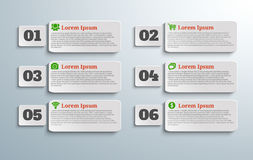 Infographic banners with icons and number Royalty Free Stock Photography