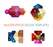 Infographic banners modern paper templates. For banners, business backgrounds, presentations Royalty Free Stock Photo