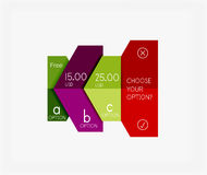 Infographic banners modern paper templates. For banners, business backgrounds, presentations Royalty Free Stock Image