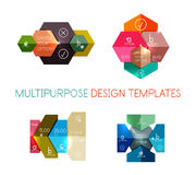 Infographic banners modern paper templates. For banners, business backgrounds, presentations Royalty Free Stock Photography