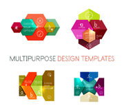 Infographic banners modern paper templates. For banners, business backgrounds, presentations Stock Image
