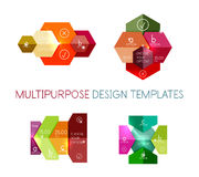 Infographic banners modern paper templates. For banners, business backgrounds, presentations Stock Photo