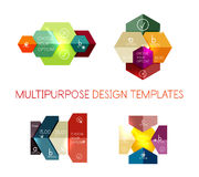 Infographic banners modern paper templates. For banners, business backgrounds, presentations Royalty Free Stock Photos