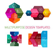Infographic banners modern paper templates Stock Images
