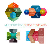 Infographic banners modern paper templates Stock Image
