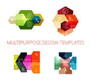 Infographic banners modern paper templates Royalty Free Stock Photo
