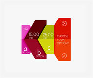Infographic banners modern paper templates Royalty Free Stock Images
