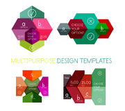 Infographic banners modern paper templates Stock Photos