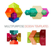 Infographic banners modern paper templates Stock Photography