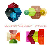 Infographic banners modern paper templates Stock Photo