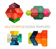Infographic banners modern paper templates Royalty Free Stock Photography