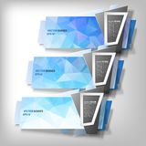 Infographic banners set, origami styled vector Royalty Free Stock Photos