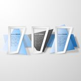 Infographic banners set, origami styled vector Stock Photography