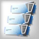 Infographic banners set, origami styled vector Royalty Free Stock Image