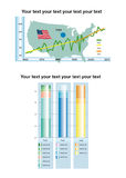 Infographic bar chart with text area Royalty Free Stock Photos