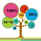 Infographic Baum stock abbildung