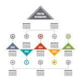 Infographic bedrijfs vectorconcept in vlakke ontwerpstijl - chronologiemalplaatje voor presentatie, boekje, Web enz. vector illustratie