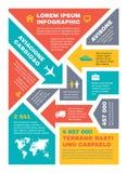 Infographic Bedrijfsconcept op verticaal A4 formaat Het vectorontwerp van het infographmalplaatje voor presentatie, boekje, websi royalty-vrije illustratie